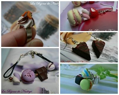 bijoux gourmand bonbon pâtisserie
