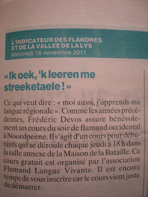 Association flamand langue vivante 111121023254970739078974